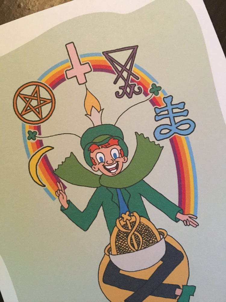 """Image of """"THEY'RE ALWAYS AFTER ME LUCKY CHARMS"""" Greeting Card"""
