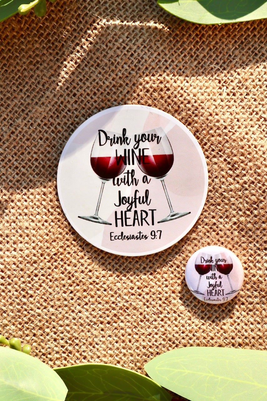 Image of Cabernet Lovers Round Stickers and Pins