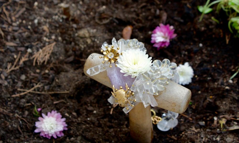 Image of Collar Fragile Mauve Nature * Pieza única