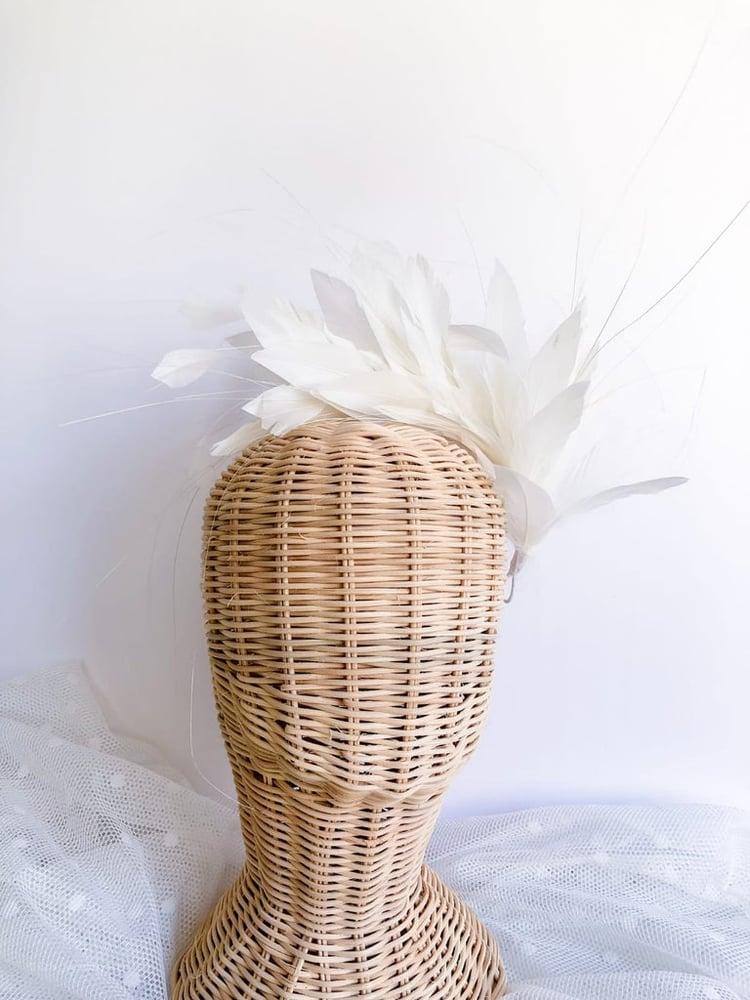 Image of Tocado de plumas Rosa viejo