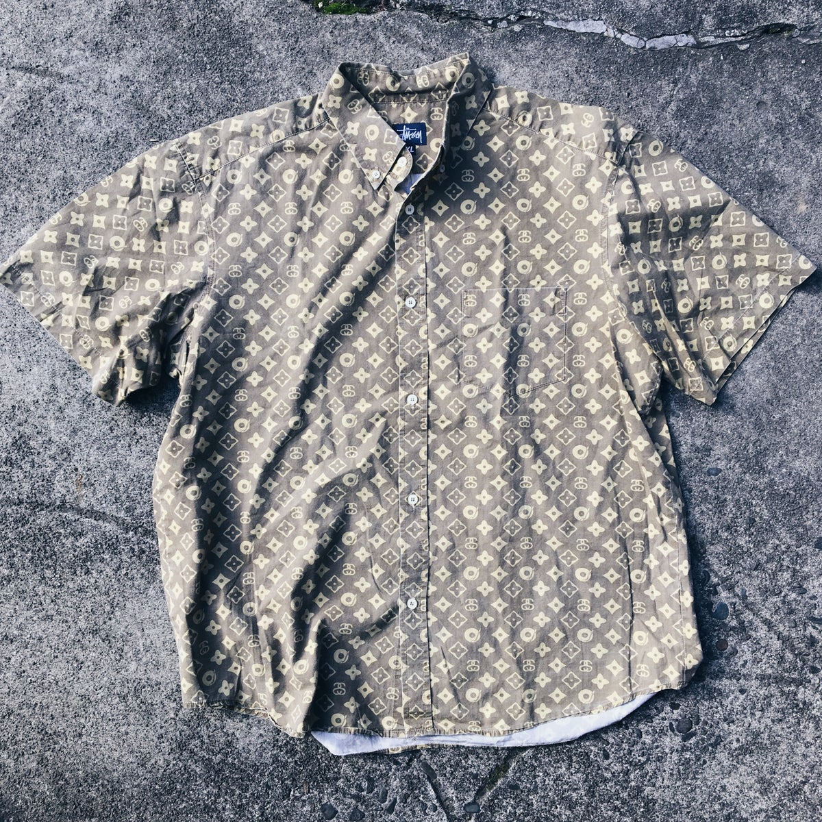 Image of Original Early 2000's Stussy Monogram S/S Button-Up.