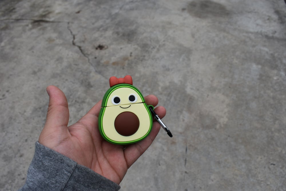 Image of Avocado 'Red Bow' Airpod Case