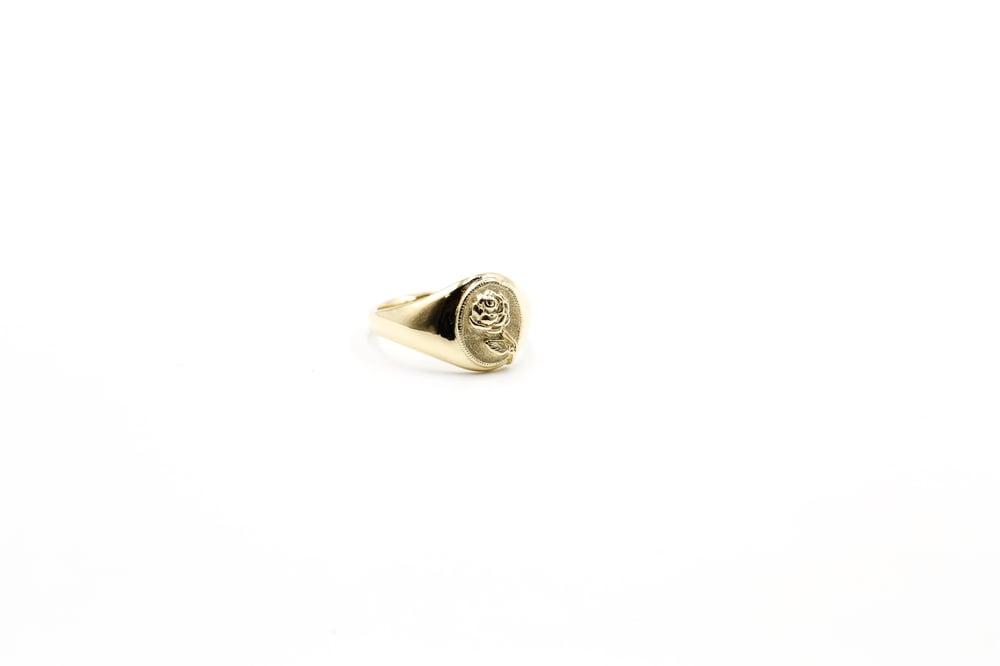 Image of 14k Gold Rose Signet