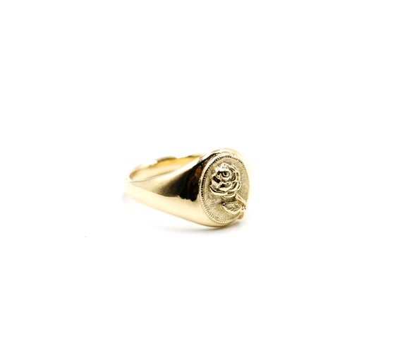 Image of 14k Gold Rose Signet