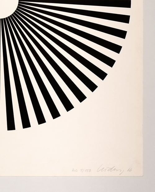 Image of Wolfgang Ludwig 'Kinematische Scheibe', 1 / 150, 1966, black on white