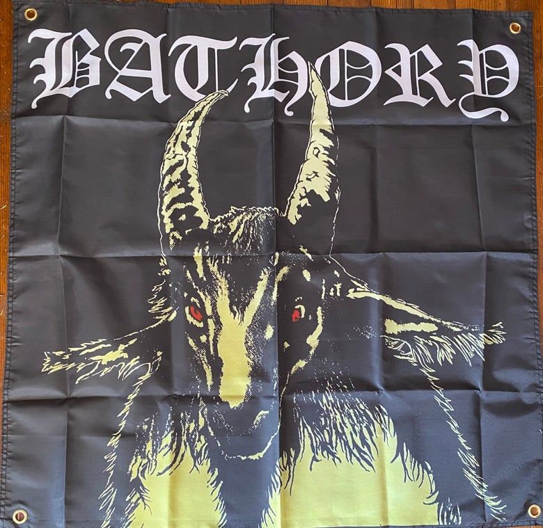 Image of BATHORY - Yellow Goat -  Banner / Tapestry / Flag