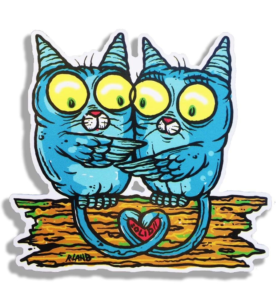 Image of Meowl cupple wall art