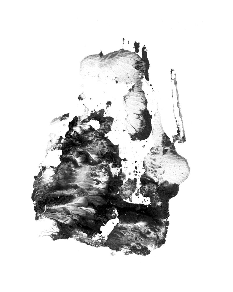 Image of mono-print painting 1 by Faith Coloccia