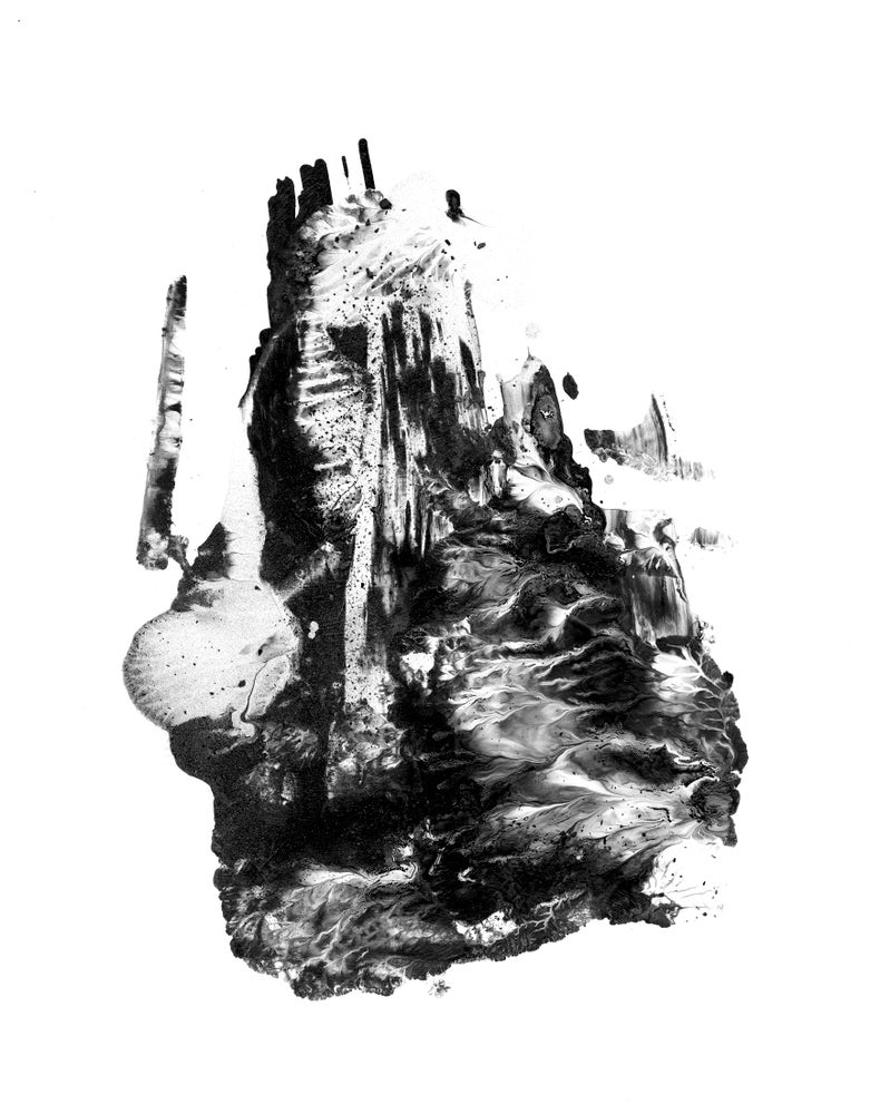 Image of mono-print painting 2 by Faith Coloccia