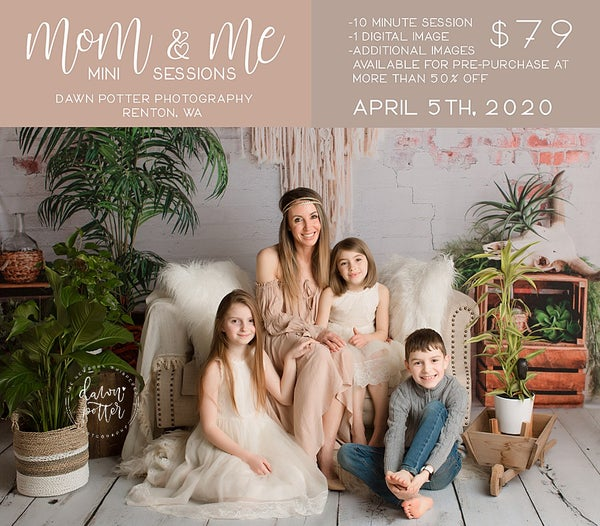 Image of MOM AND ME MINI SESSIONS SUNDAY APRIL 5TH, 2020 (postponed date TBA due to Covid 19)