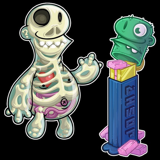 "Image of ""X-Ray and Pez"" Sticker Set"