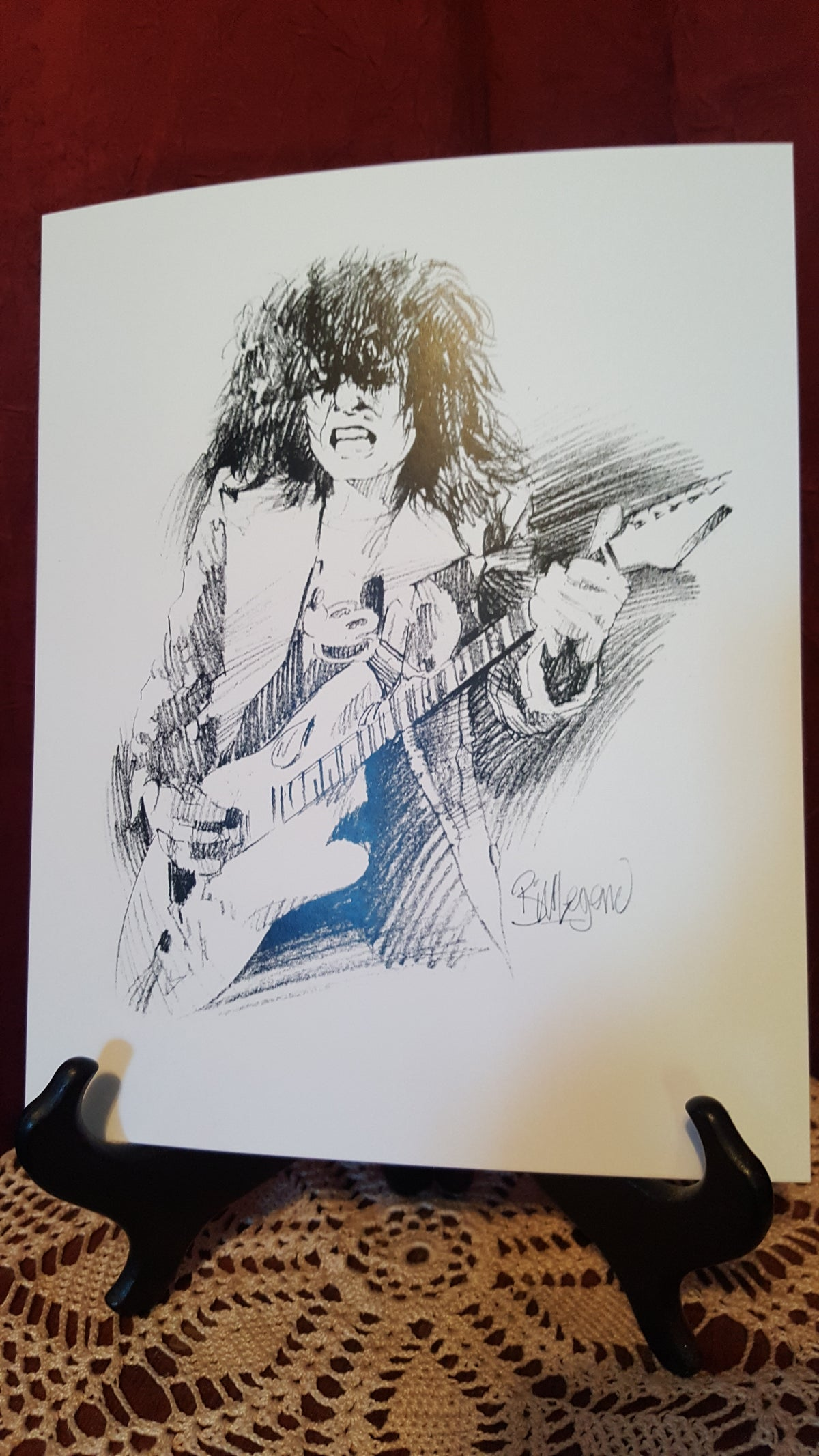 "Image of Action Marc ""Fender Man""/ personally signed by Bill"