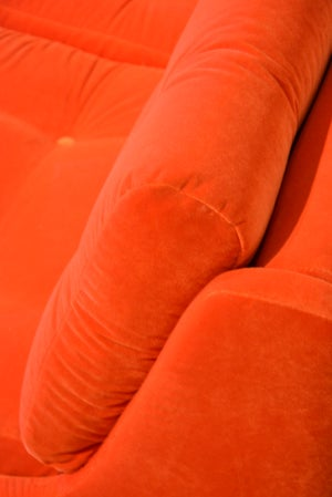 Image of Canapé POP rouge orangé