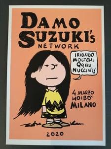 Image of Serigrafia del Damo Suzuki's Network disegnata e firmata Davide Toffolo