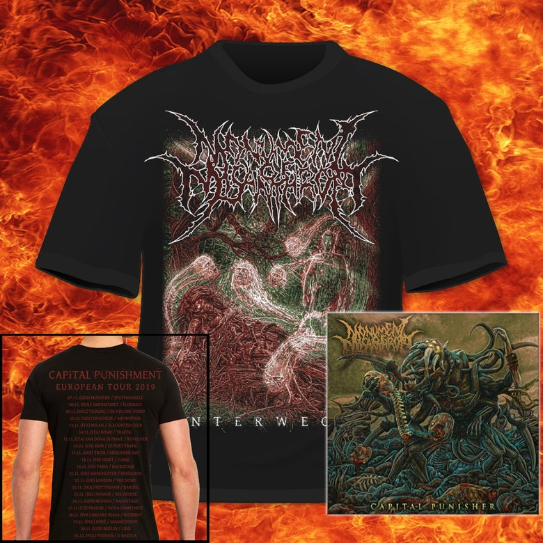"Image of MONUMENT OF MISANTHROPY - ""CAPITAL PUNISHER"" EP & ""UNTERWEGER"" TOUR-T-SHIRT BUNDLE"