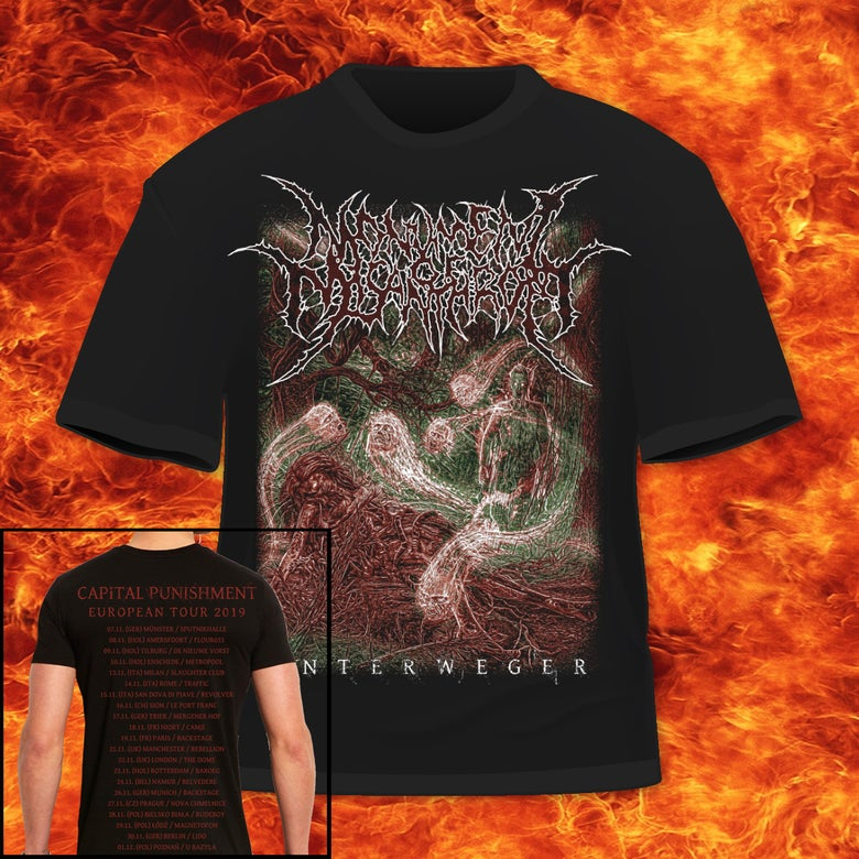 Image of MONUMENT OF MISANTHROPY - UNTERWEGER - NEW 2020 ALBUM T-SHIRT