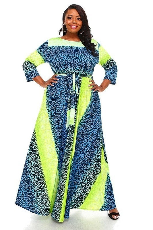 Image of Lime/Blue Maxi (Online Only)