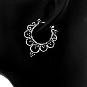 Image of Legian mandala hoop earrings