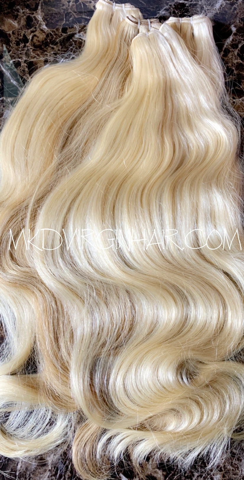 MKD Raw Asian Blonde Straight