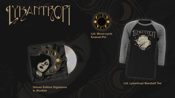 Image of Lykantropi - Vestigia Package (CD/Baseball Tee/Pin)