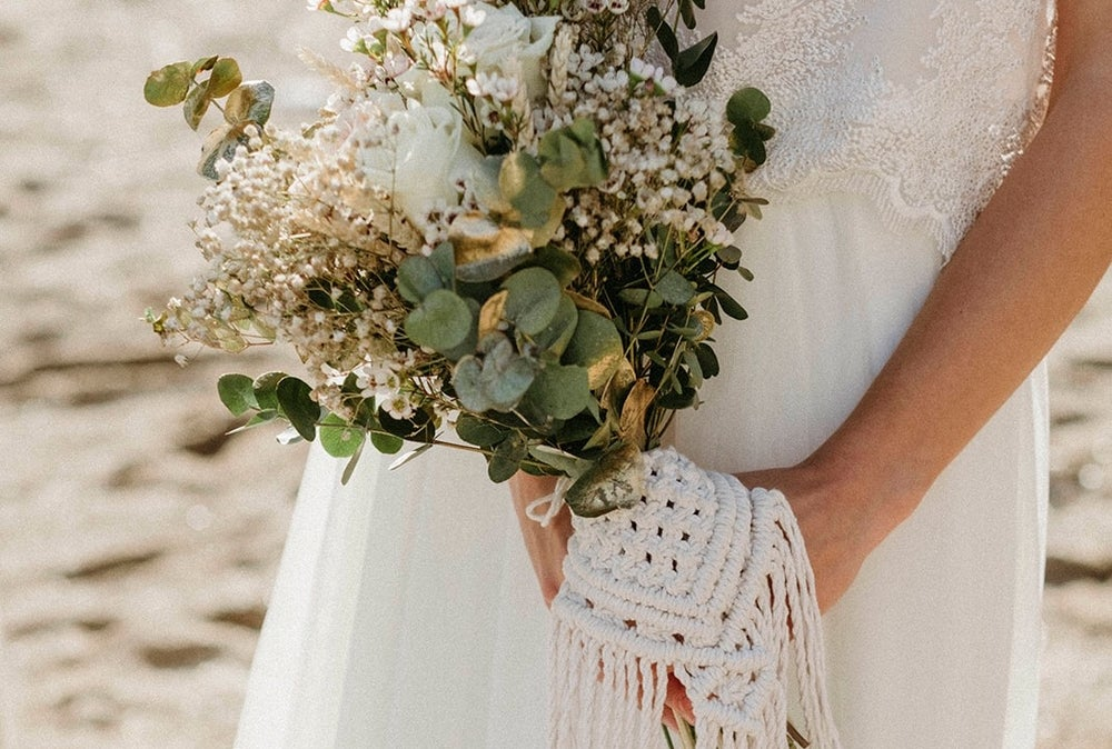 Image of Macrame bouquet wrap
