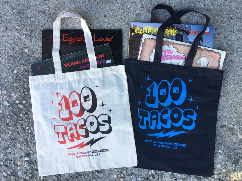 Image of 100 Tacos Canvas Tote Bag