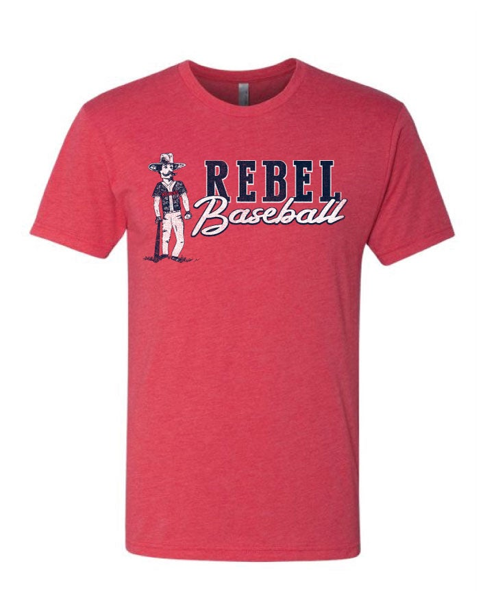 Image of Adult Rebel Baseball CREW neck Tee
