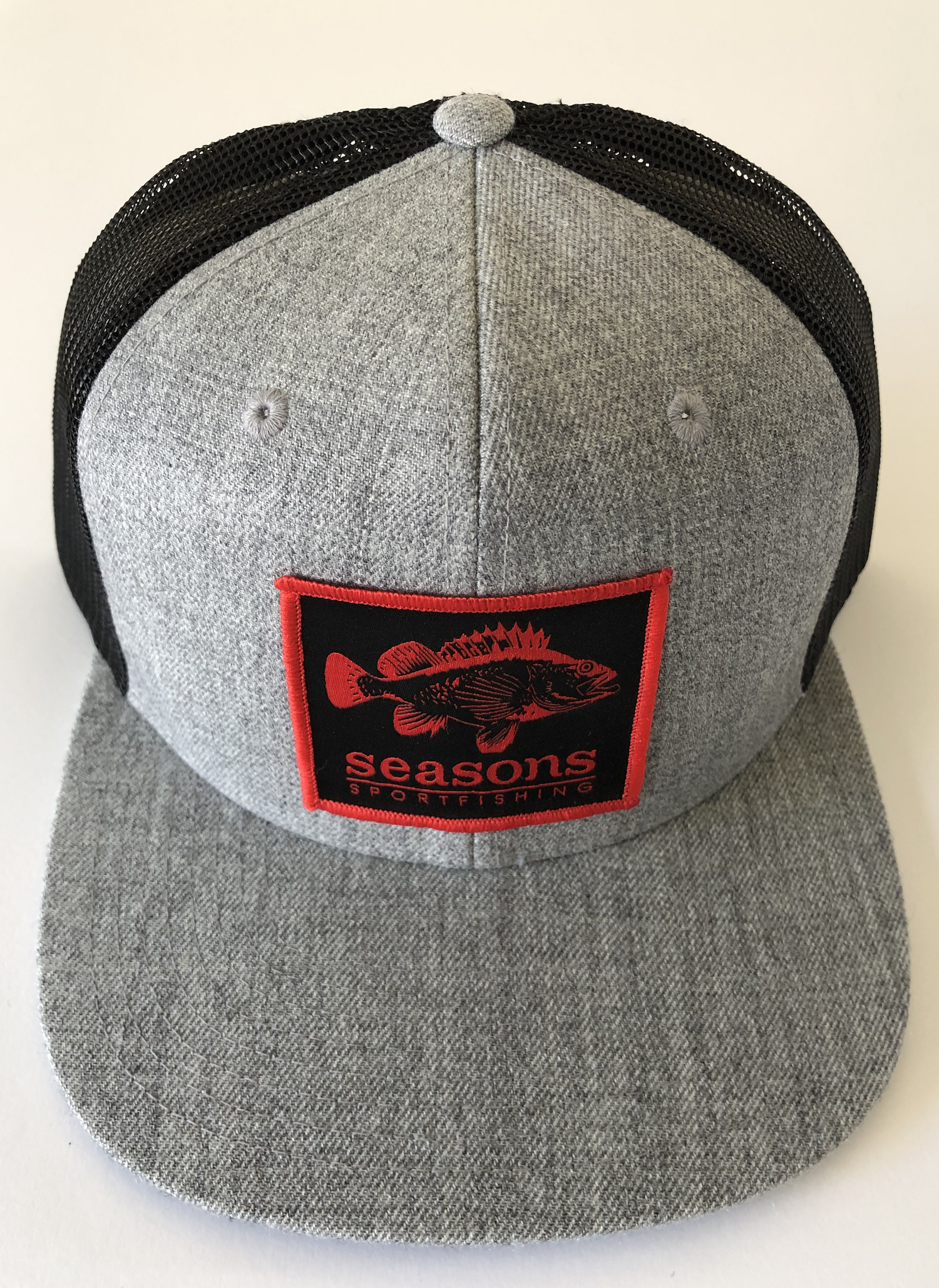 Image of SEASONS - HEATHER GRAY / BLACK MESH SNAP BACK - ROCK COD