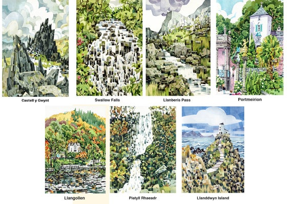 Image of Welsh Landscape watercolour prints