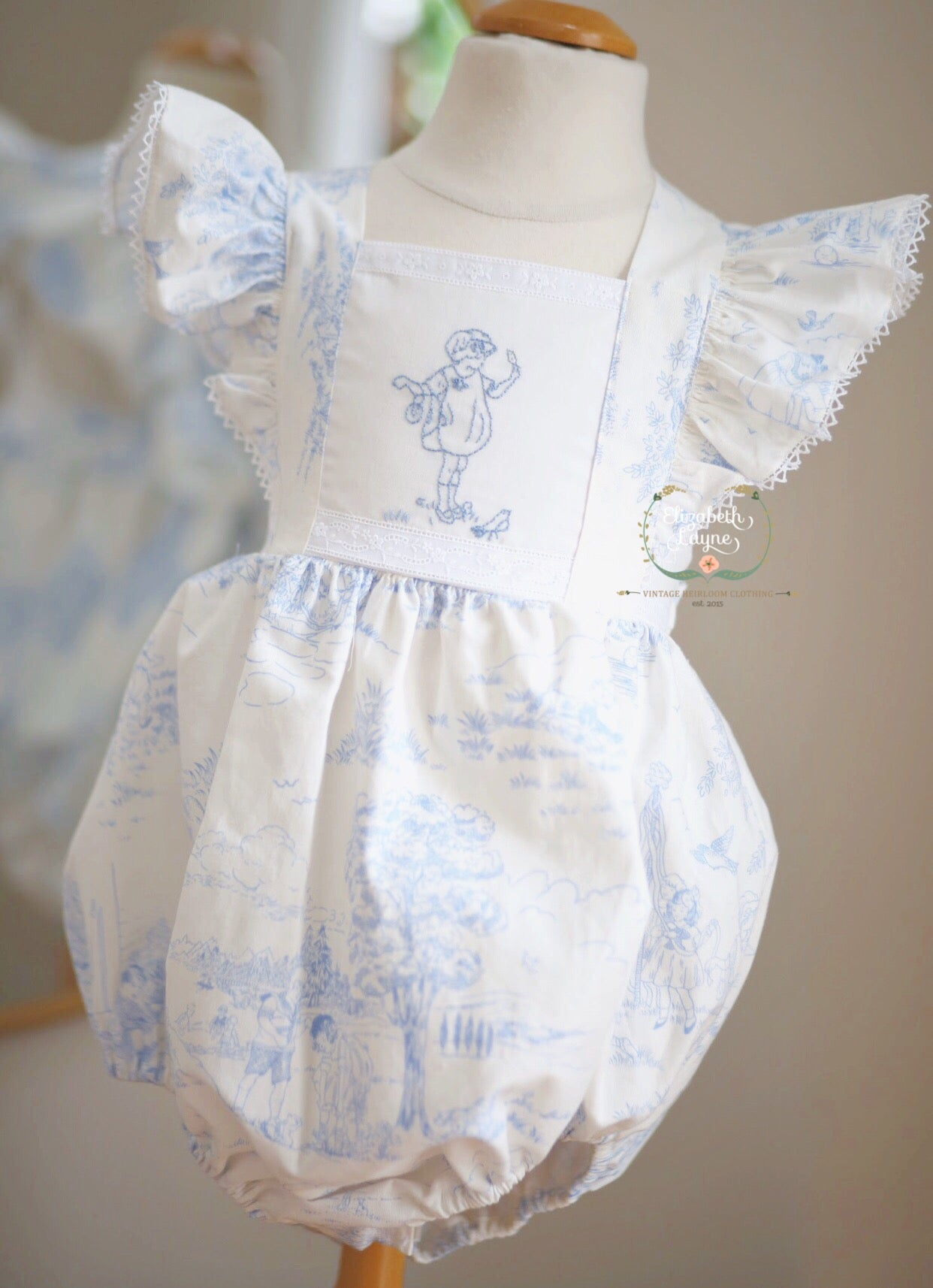Image of Spring Toile 'Mary Jane'  Bubble