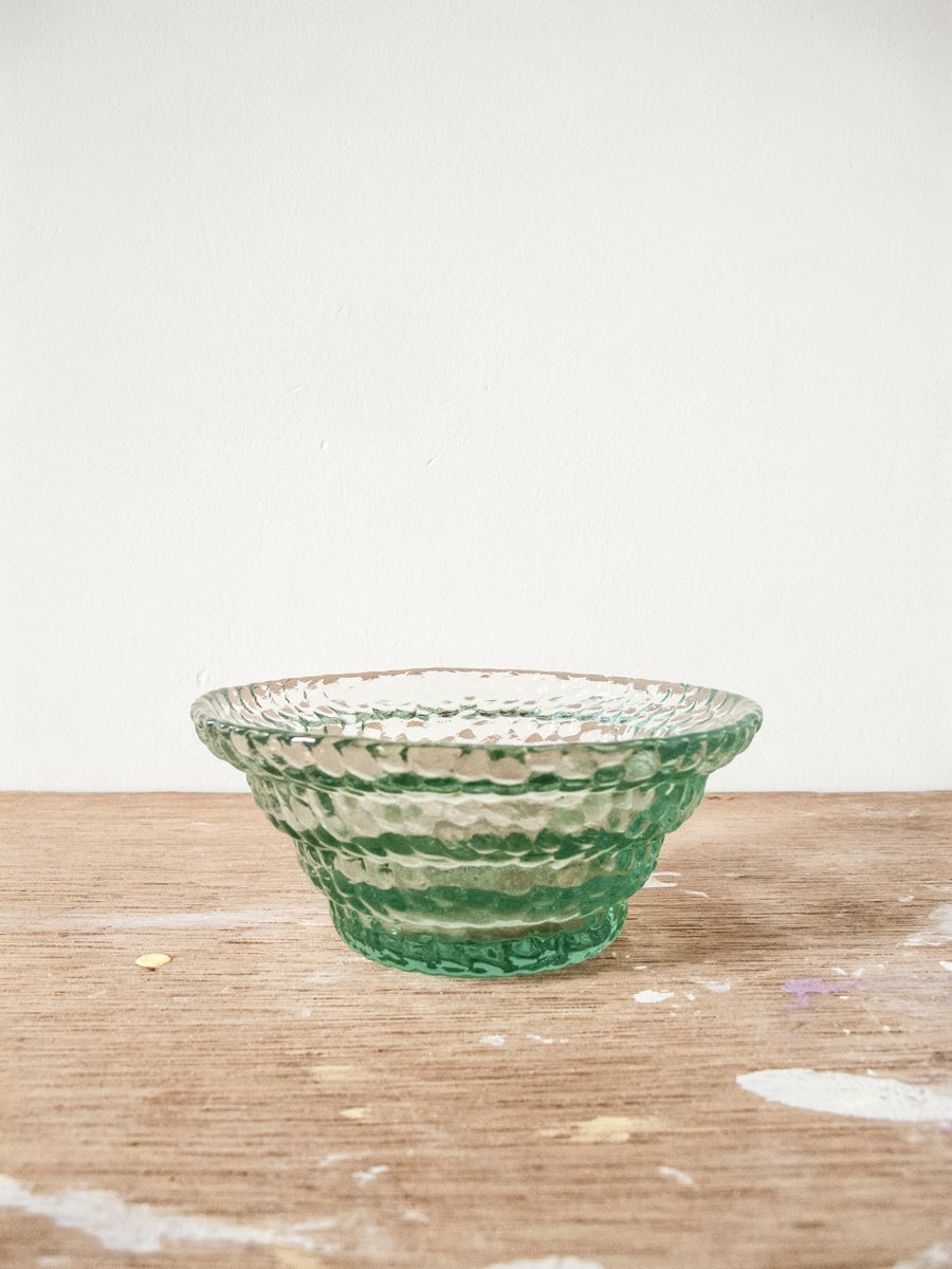 Image of green glass bowl