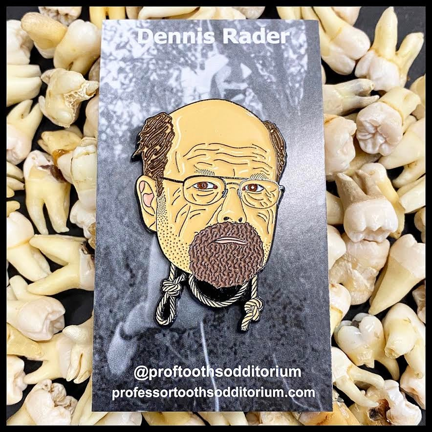"Image of Serial Killer Dennis Rader ""BTK"" Soft Enamel Pin"