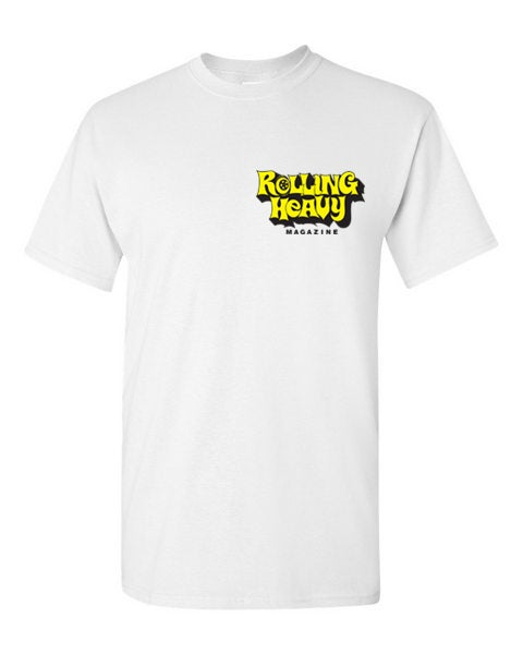 Rolling Heavy Magazine ( Vannin') White T-Shirt