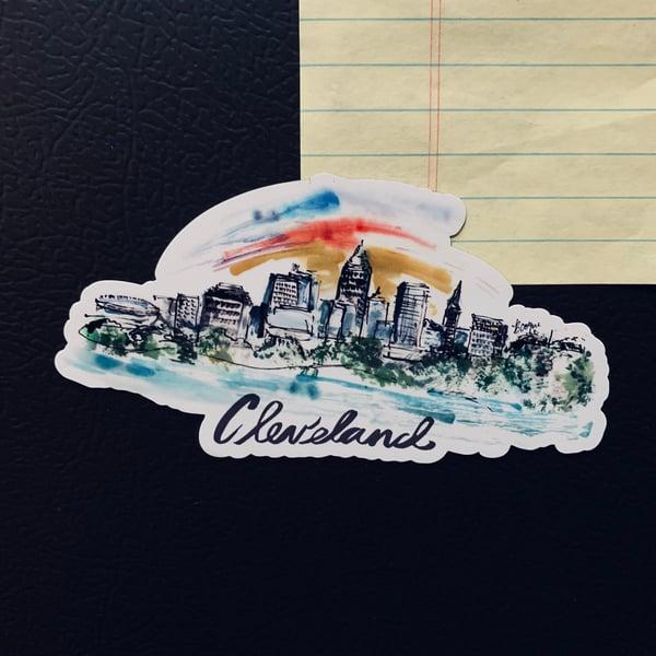 Image of 'Cleveland Skyline' Magnet