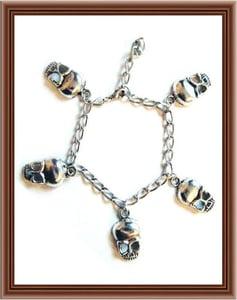 Image of Numb Skull Charm Bracelet