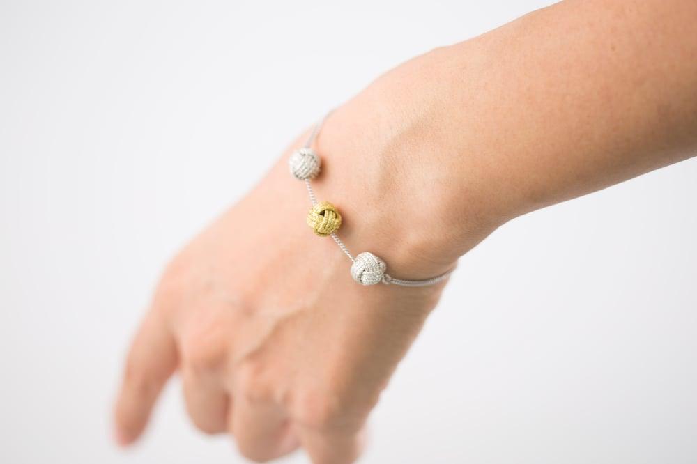 Image of Triple Knot Ball Bracelet