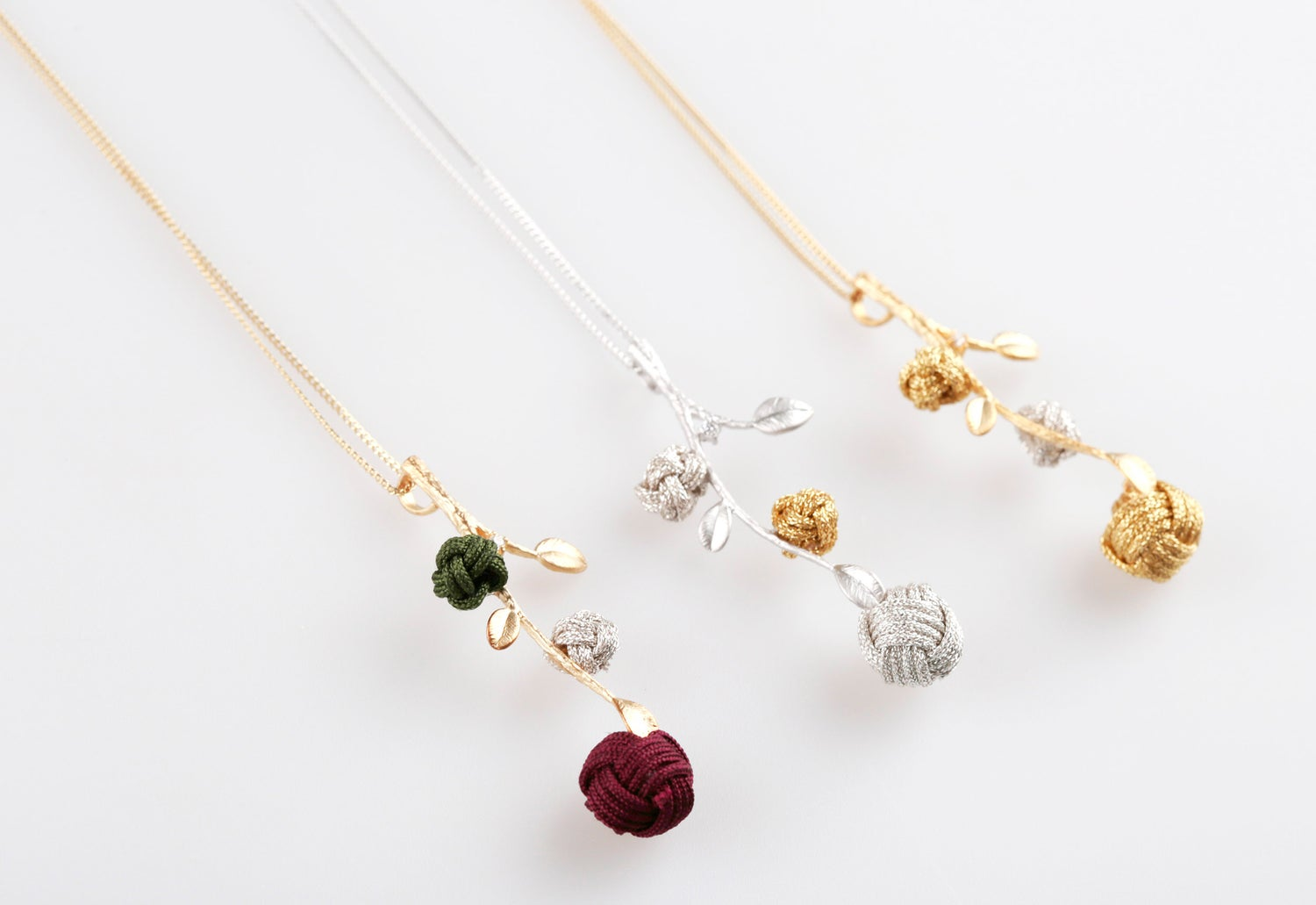 Image of Flower branch necklace