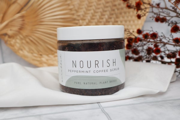 Image of Nourish Peppermint Coffee Scrub