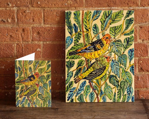 Image of Goldfinches Fine Art Giclée Print