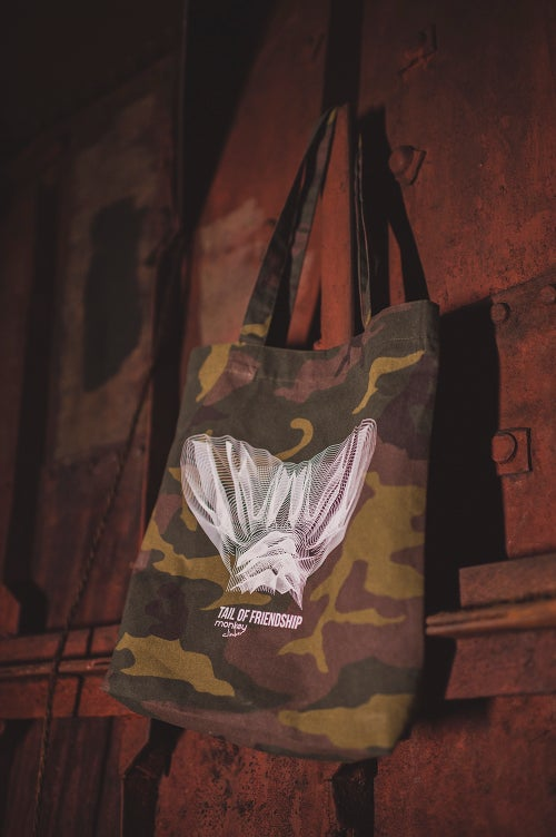 Image of Monkey Climber Tail of Friendship Heavy Totebag I DPM Camou (very ltd!)