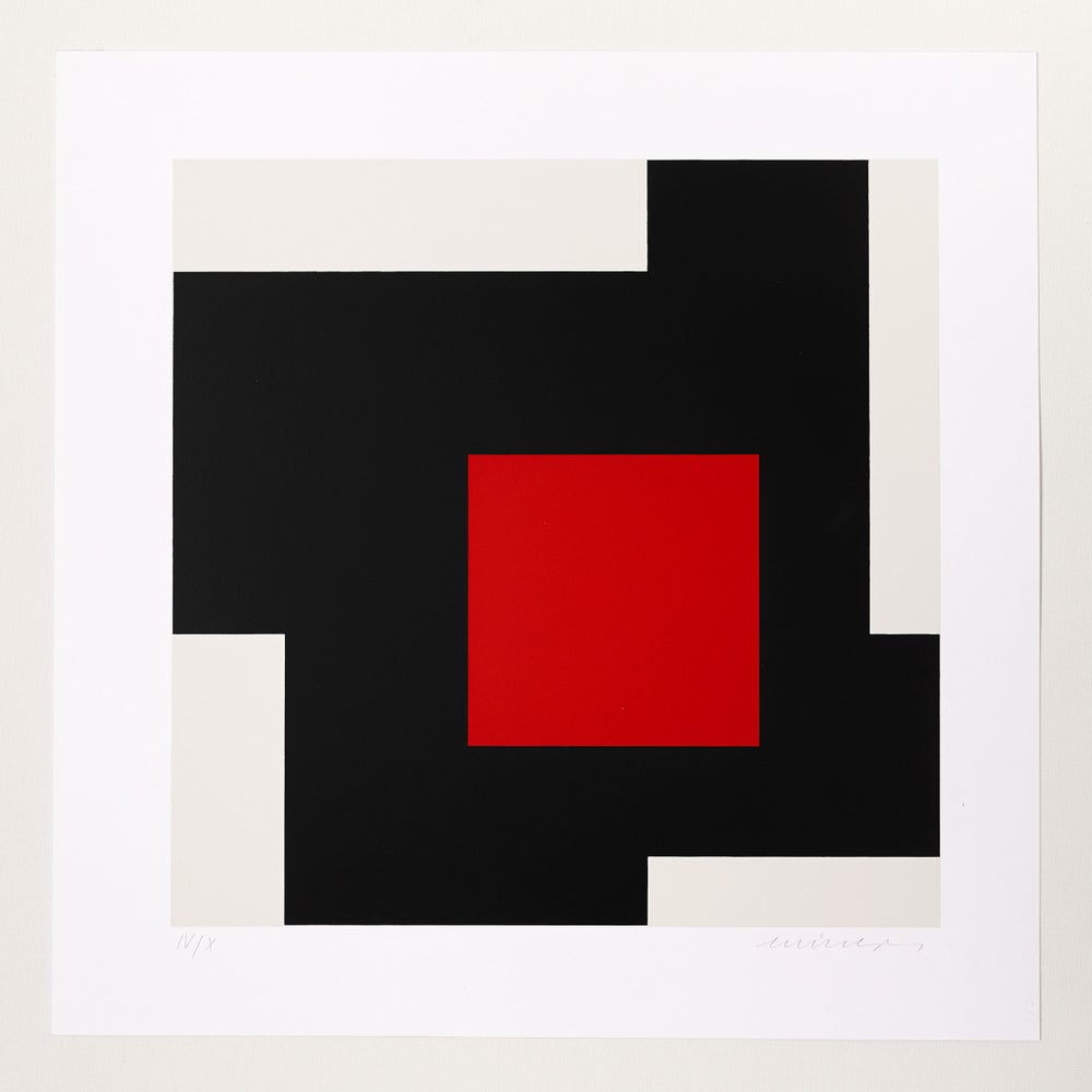 Image of Jo Niemeyer, Untitled, IV / X, black / red