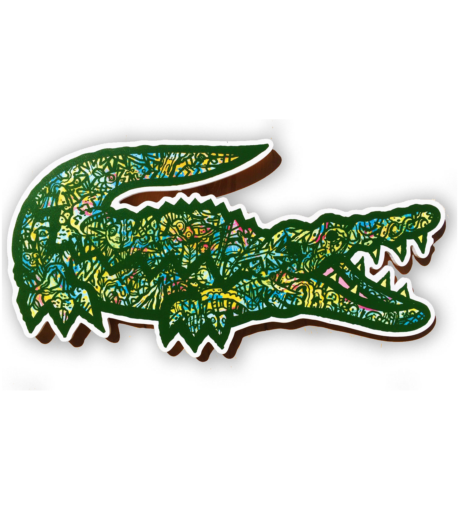 Image of Lacoste Landfill wall art ( okefenokee colors)
