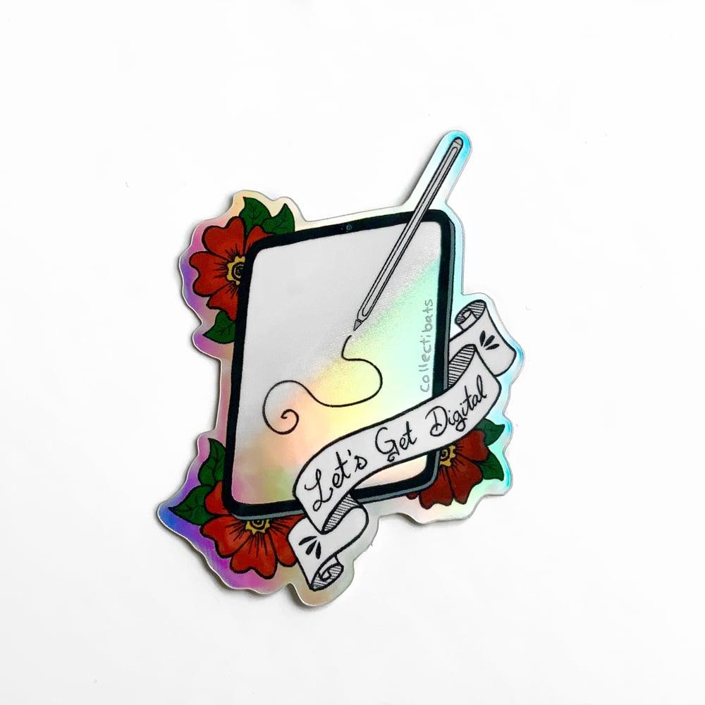 Digital Artist Holographic Sticker
