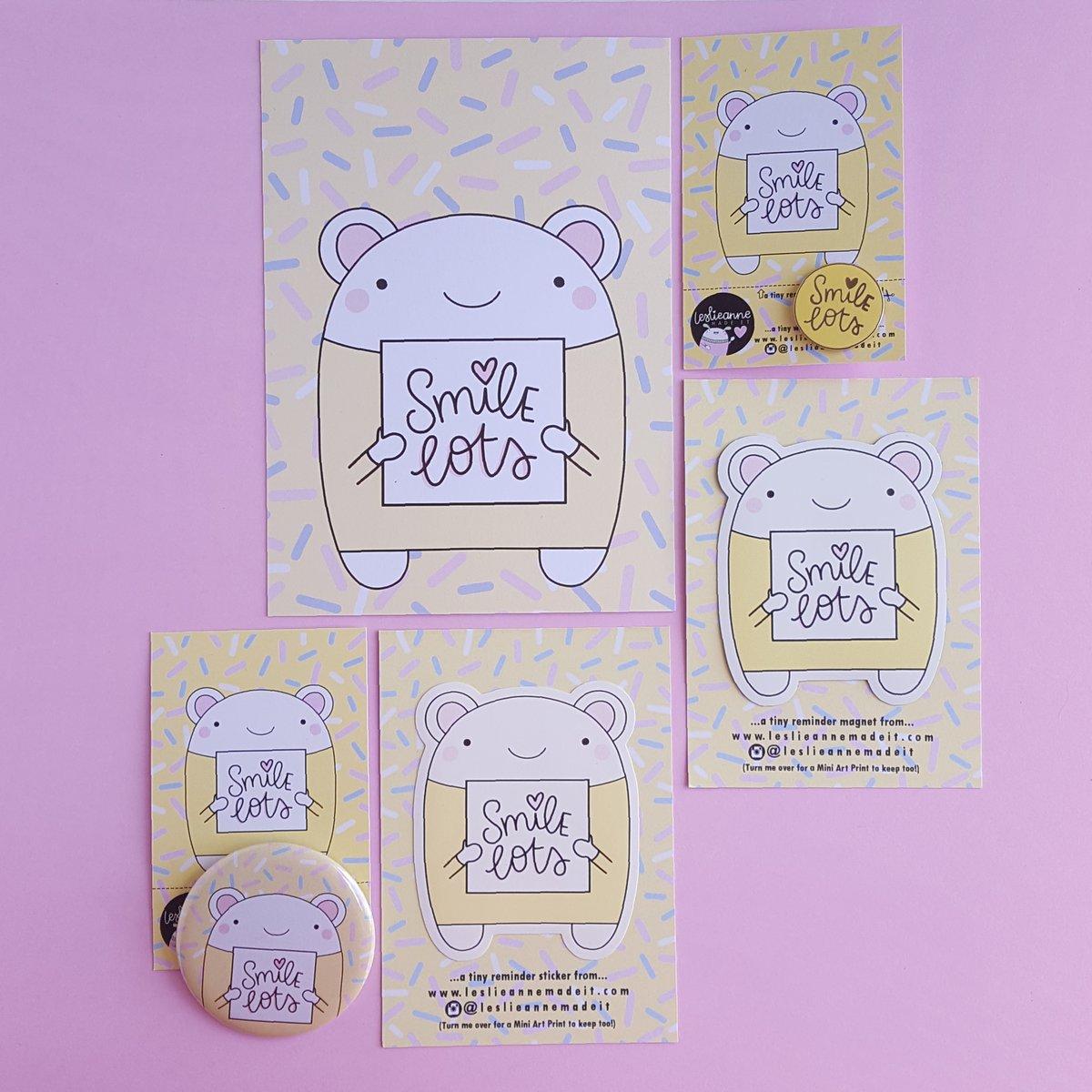 Smile Lots : Illustrated Postcard