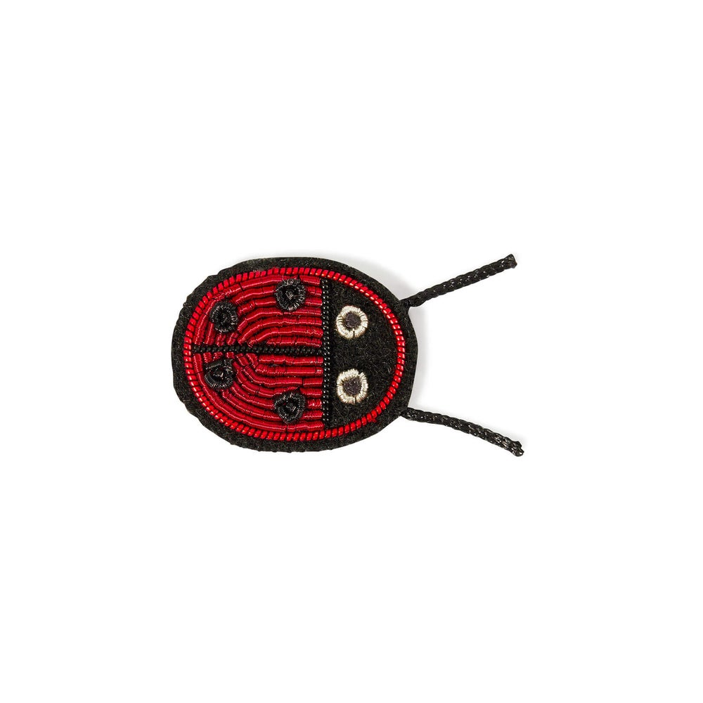 """Image of BROCHE BRODÉE """"COCCINELLE"""", MACON & LESQUOY"""