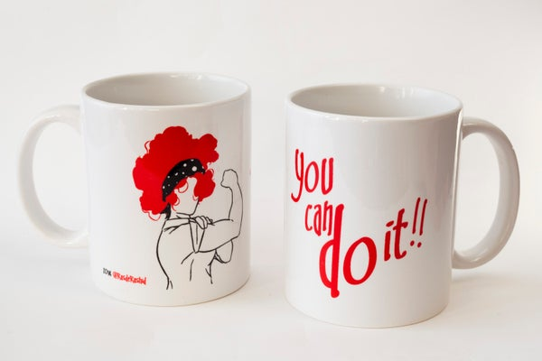 "Image of Taza ""You can do it"""
