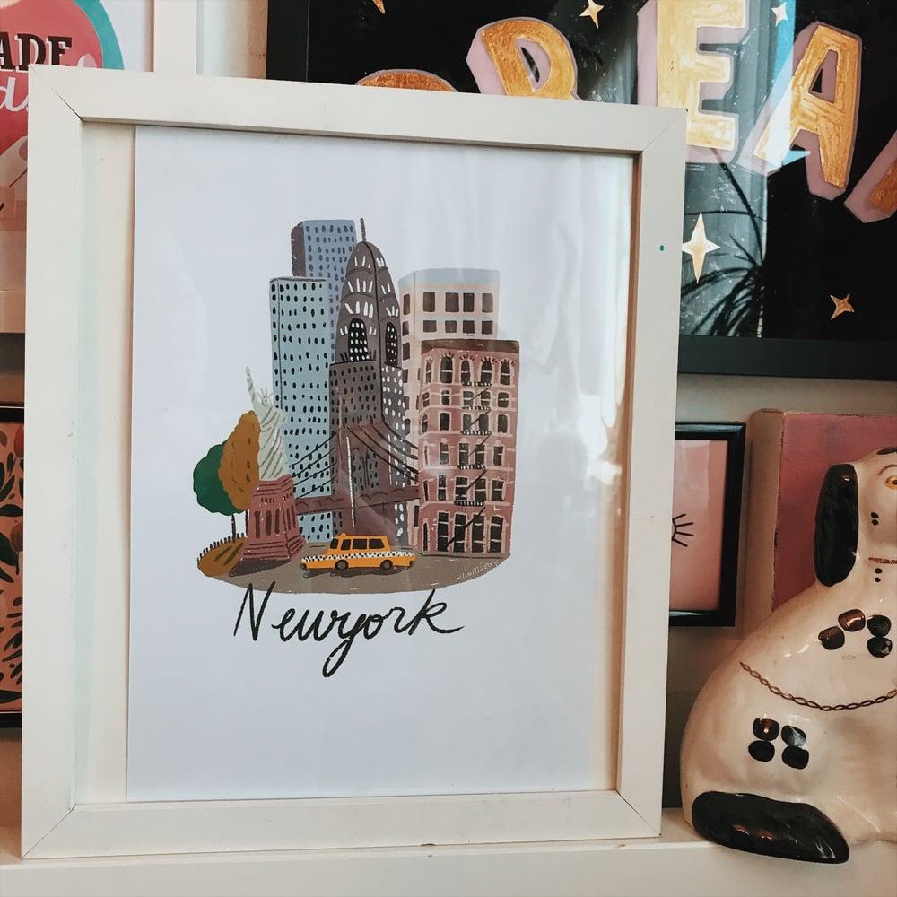 Image of A4 New York city print