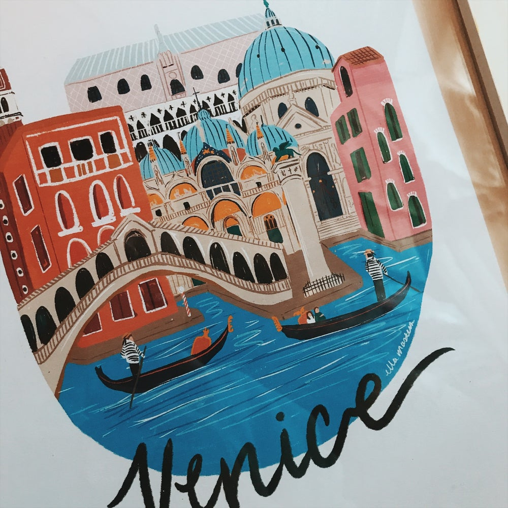 Image of A4 Venice city print
