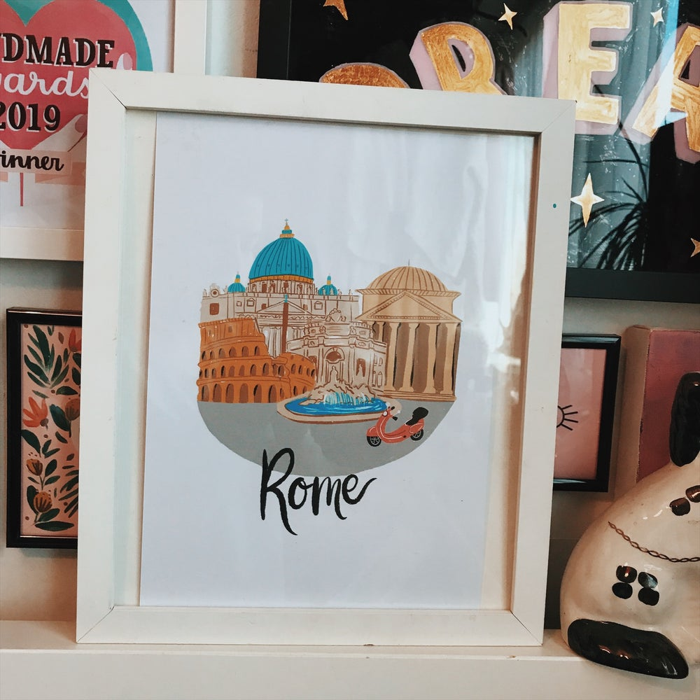 Image of A4 Rome city print