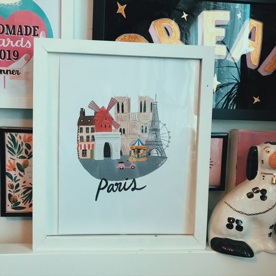 Image of A4 Paris print